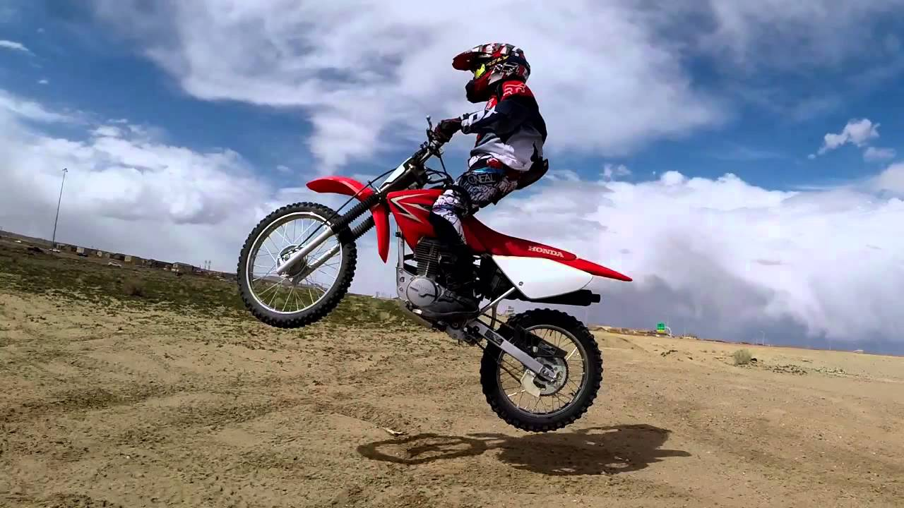 12 Year Old Dirtbike Devin Jumps With Feet Off Pegs Feat