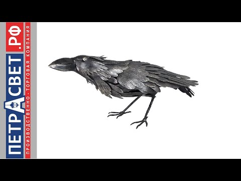 Птица из металла Ворон металлический декор птицы металл скульптурные памятники птиц  S4031 сварка