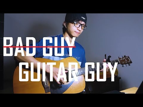 Billie Eilish - bad guy (with Justin Bieber) Percussion Fingerstyle Guitar Cover by Rendy Yap