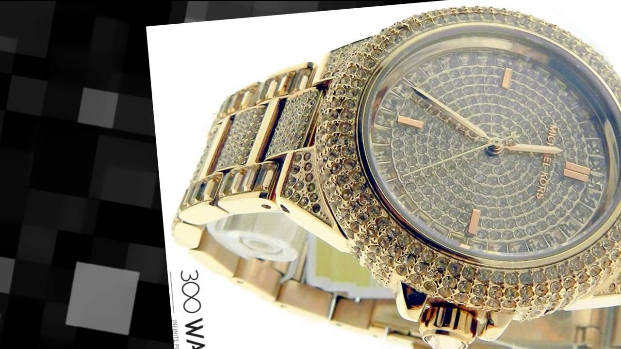 41a24ec3bd2fc Michael Kors Camille Rose Golden Steel Crystal Quartz Watch - YouTube