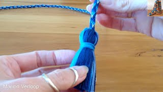 Making a tassel on a cord