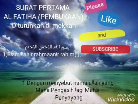 Surat Al Fatihah Beserta Artinya