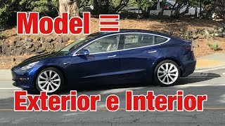 Tesla model 3 Detalles de Exterior e Interior Julio 17