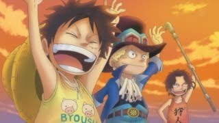 Sabo cries over Ace's death