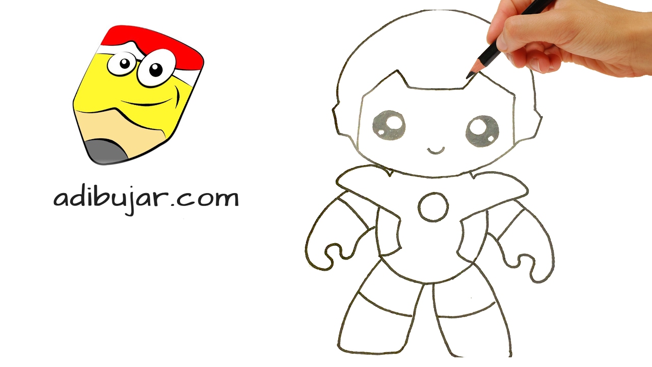Como Dibujar A Ironman Kawaii Superheroes Marvel Youtube