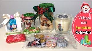 DIY - YILBAŞI İÇİN SON DAKİKA HEDİYELERİ- LAST MINUTE SUPER EASY DIY CHRISTMAS GIFTS