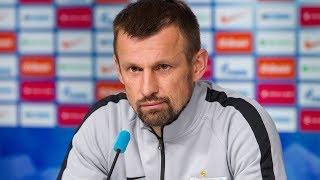 «Зенит» — «Славия»: пресс-конференция Сергея Семака и Андрея Лунева