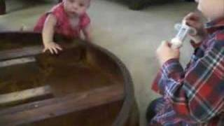 Kids Putting Dining Table Together