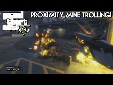 GTA 5 Online: Proximity Mine Trolling! (HD)