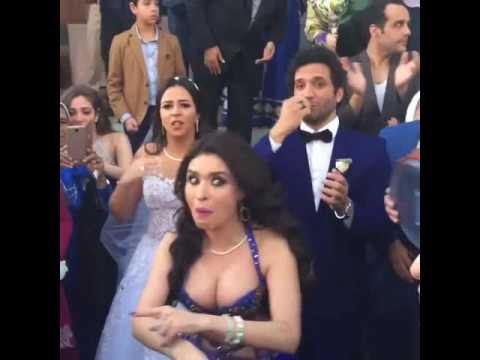 دينا ترقص فى فرح حسن الرداد وايمى سمير غانم