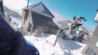 Alex Stewart and Giacomo Errichiello taking  ski in ski out    956611
