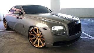 #RDBLA Rolls Royce GOLD, Crazy Color Changing Range Rover