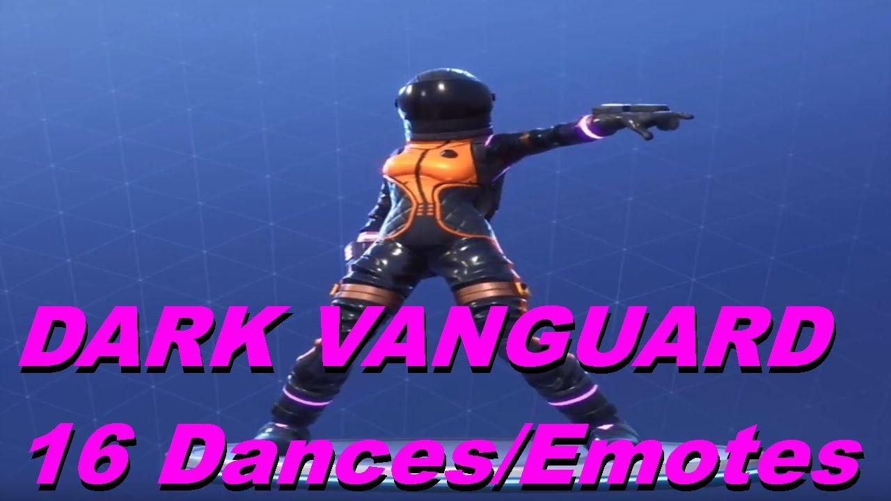 New Dark Vanguard Skin Showcase With 16 Dances Emotes Fortnite