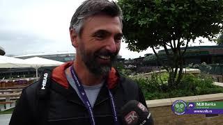 Goran Ivanišević: I Pre Sam Bio Novakov Navijač   Wimbledon 2019.   SPORT KLUB Tenis