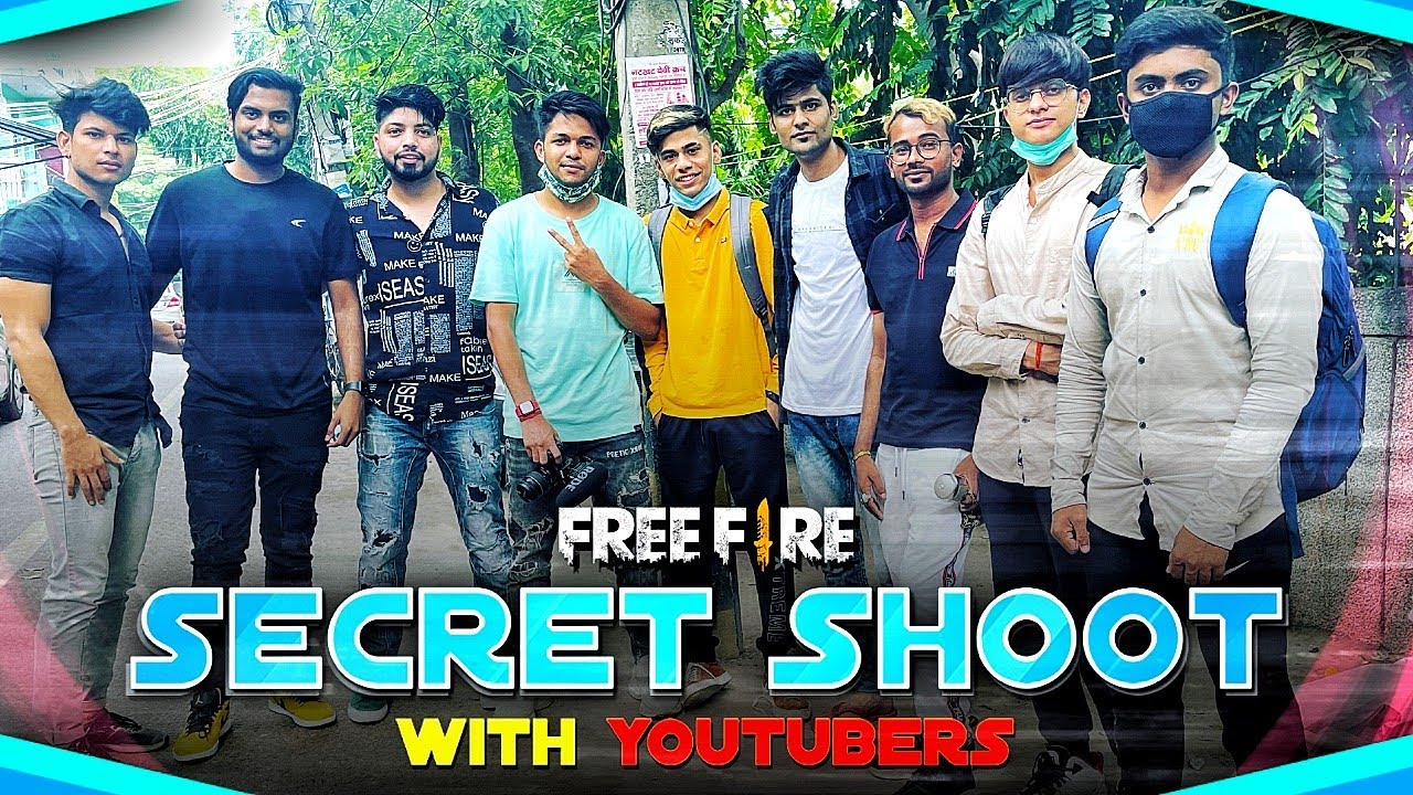 Secret Shooting With All Youtubers😍🔥सबका Face Reveal - Garena Free Fire !!