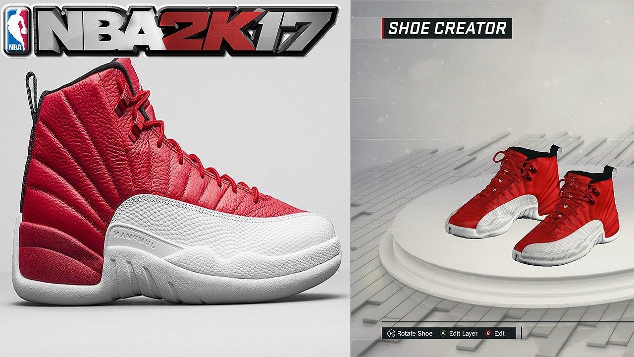 0d3642dab5a6 ... store nba 2k17 shoe creator air jordan 12 gym red a7018 a7994