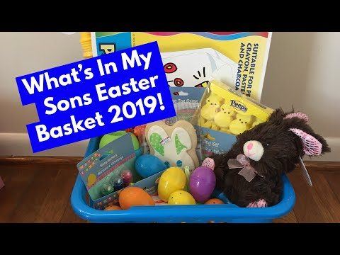 What's In My Sons Easter Basket 🐣: Mostly Dollar Tree 🌲