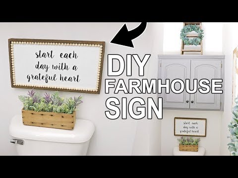 DIY FARMHOUSE SIGN ⭐DIY WALL DECOR ⭐HOW TO MAKE A WOOD SIGN