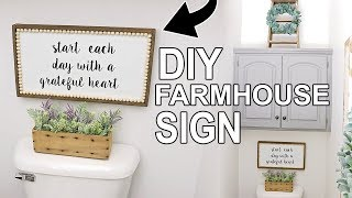 DIY FARMHOUSE SIGN ⭐DIY WALL DECOR ⭐HOW TO MAKE A WOOD SIGN