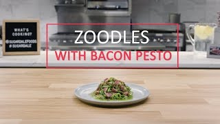 Zoodles With Bacon Pesto