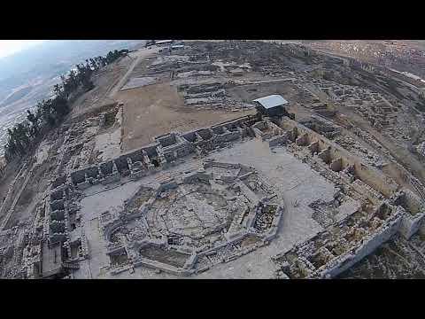 Mount Gerizim - Aerial views (BibleWalks.com)