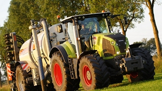 Claas Axion mit Kaweco Double Twin Shift Güllefass