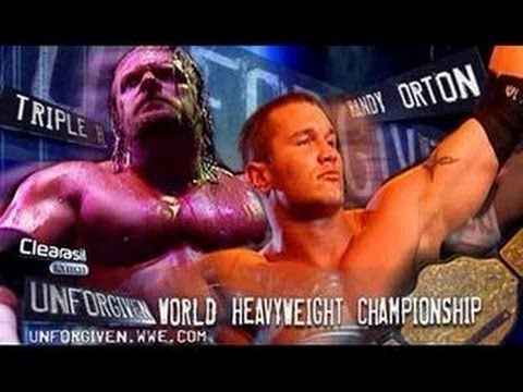WWE 2K16_20160605, WWE UNFORGIVEN 2004 - TRIPLE H VS RANDY ORTON WORLD HEAVYWEIGHT CHAMPIONSHIP