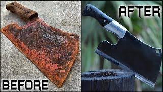 Rusted BUTCHER's CLEAVER - Unbelievable Restoration