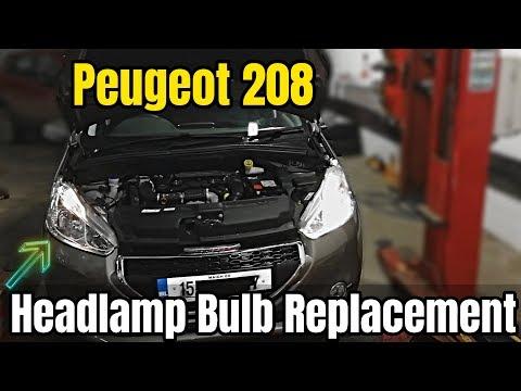 Peugeot 208 Headlamp Bulb Replacement – DIY