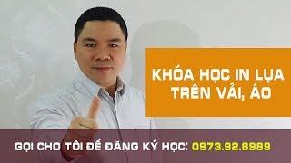 Dạy nghề in áo   Khóa Học In Lụa Trên Vải,  in Áo Thun, in Áo Đồng Phục, in Áo Bóng Đá