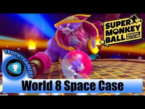 Super Monkey Ball Banana Blitz HD - Space Case World 8 - P. YanYan Gameplay |
