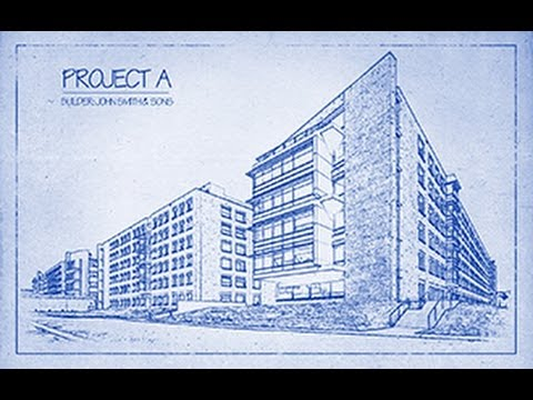 Photoshop tutorial how to transform a photo into an architects blueprint drawing youtube
