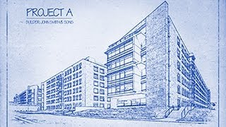 Photoshop: Transform A Photo Into An Architect's Blueprint Drawing.