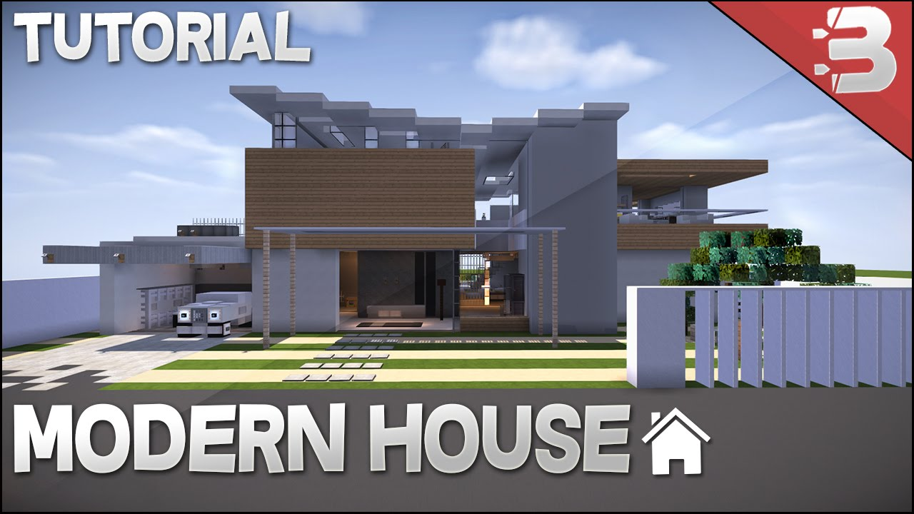 Minecraft how to build modern beach house youtube for How to build a modern home