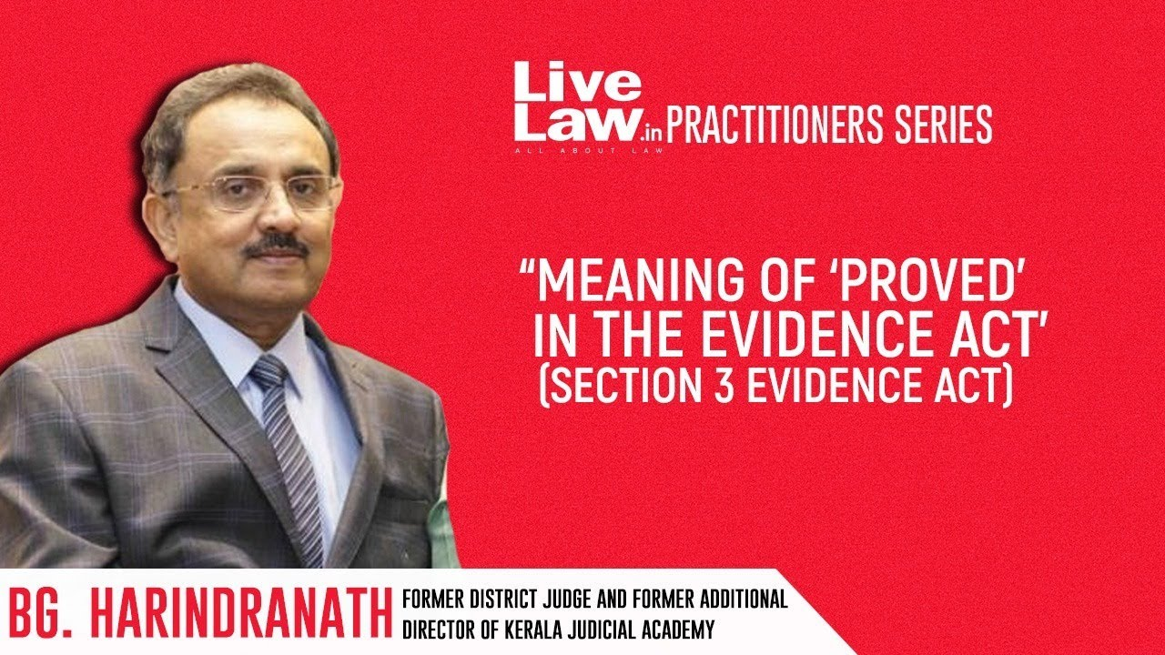 """Download """"Meaning Of 'Proved' In The Evidence Act (Sec 3 Evidence Act)"""" 