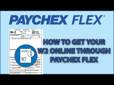 How to get your W2 Online through Paychex Flex - YouTube