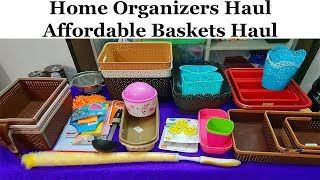 home and kitchen organizers shopping haul in Tamil  Kitchen Organizer haul Storage Baskets  shopping