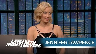 getlinkyoutube.com-Jennifer Lawrence Wanted Seth to Ask Her Out When She Hosted SNL - Late Night with Seth Meyers