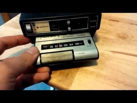 Sanyo Car 8 track player with fm tuner cartridge