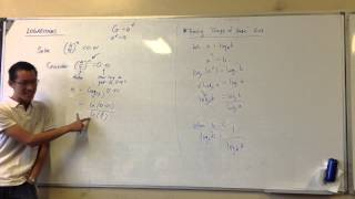 Solving Indicial Inequality w/ Logs
