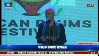 Wole Soyinka Displays Fluency In Yoruba Language At The African Drums Festival