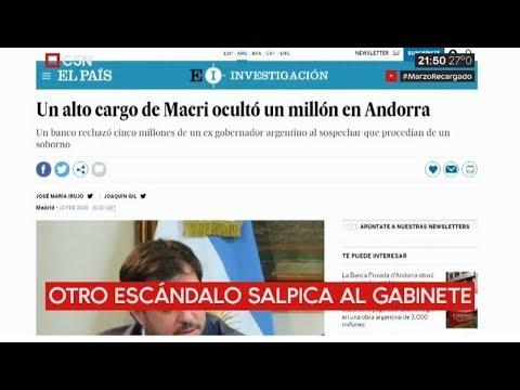 El subsecretario general de Presidencia Valentín Díaz Gilligan ocultó US$1,2 millones en Andorra