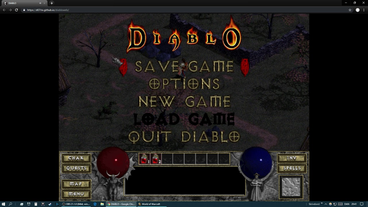 Play Diablo 1 in a browser - This works great
