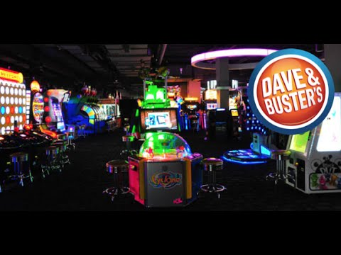 Playing Arcade Games At Dave And Buster S Youtube