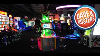 PLAYING ARCADE GAMES AT DAVE AND BUSTER