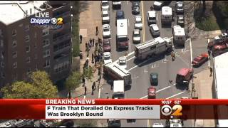 F Subway Train Derails In Woodside, Queens