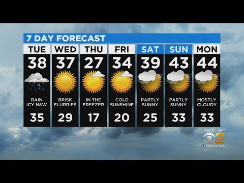New York Weather: CBS2 12/16 Nightly Forecast At 11PM