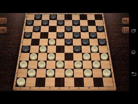 Играю в Русские Шашки -Настольная игра - на андроид (Обзор/Review)
