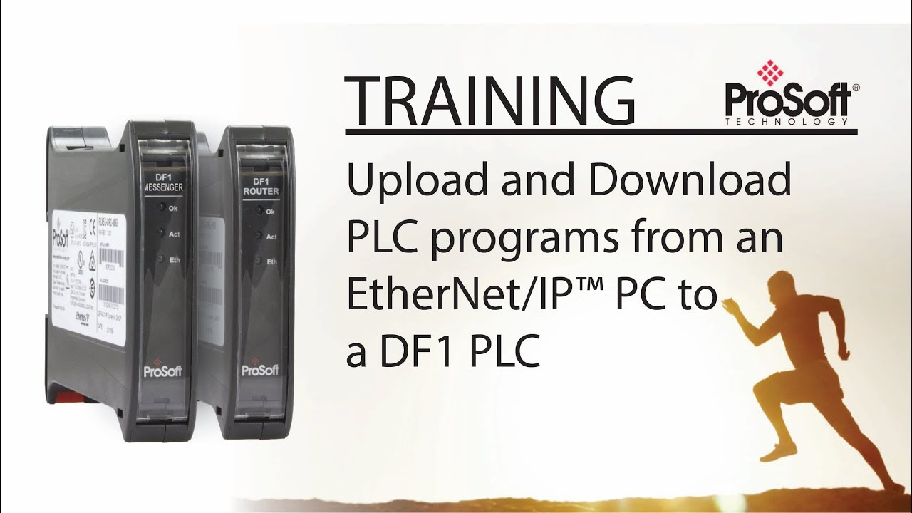 Set Up: Upload and Download PLC programs from an EtherNet/IP™ PC to a DF1  PLC