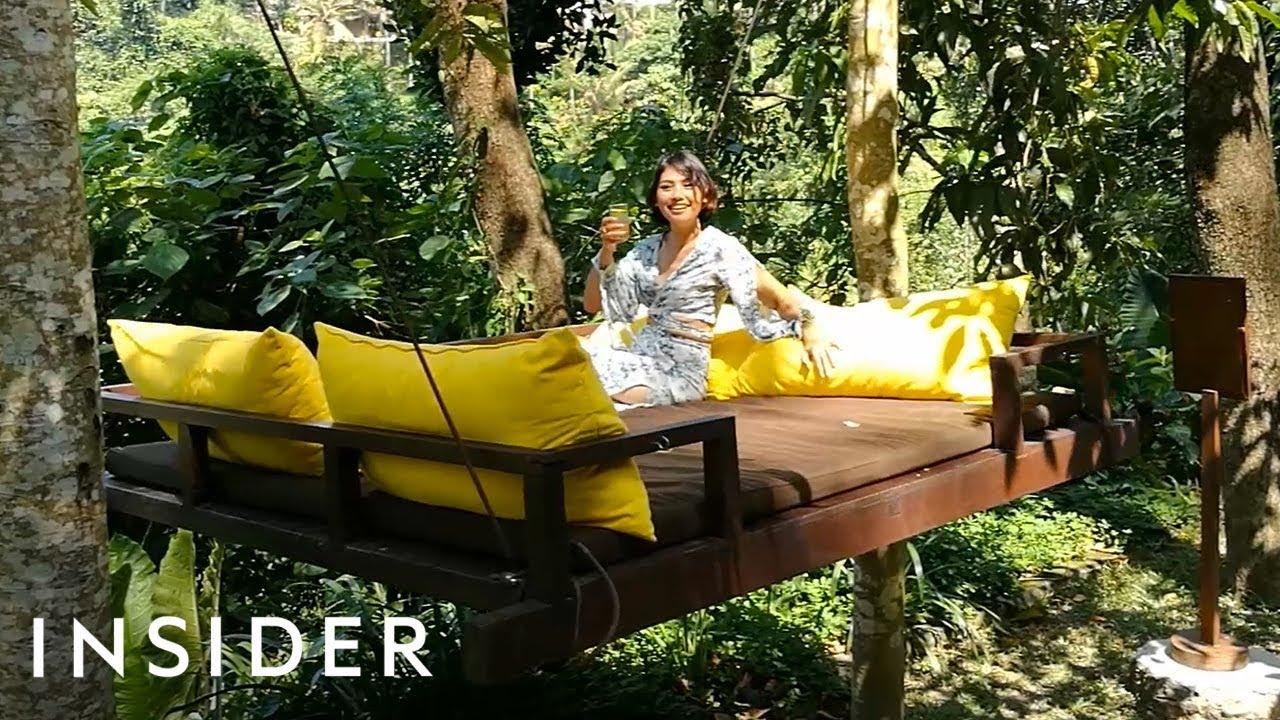 Кој би одбил да се релаксира во кревет-лулка и да ужива во природата на Бали?